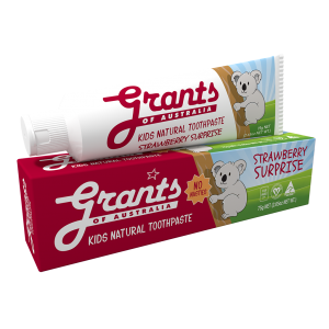 STRAWBERRY SURPRISE KIDS NATURAL TOOTHPASTE - FLUORIDE FREE - 75G