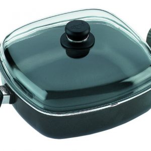 SQUARE CASSEROLE DISH 28X28X7CM HIGH, INCL. OVEN-PROOF GLASS LID