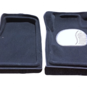 Trap Mats Carpet To Suit Ssangyong Musso Dual Cab Four Door Utility 1993-2007 Black Floor Automatic Front And Rear
