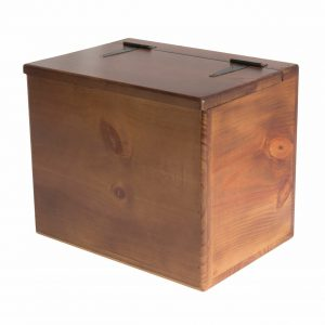 Storage Box - Wooden - Small - Flat Top - Spacious Storage Compartment