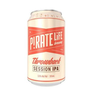 Pirate Life Throwback Indian Pale Ale Beer Cans 355ml - Pack of 16