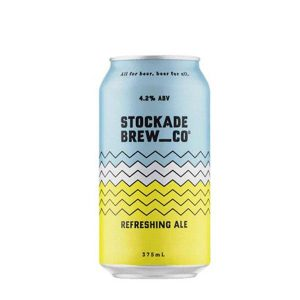 Stockade Refreshing Ale Beer Cans 375ml - Pack of 24