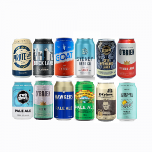 MIXED CASE OF LAGER AND PALE ALE BEERS - 12 CANS