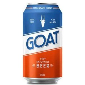 Mountain Goat Lager Beer 4.2% Can 375Ml - Pack Of 24 Cans