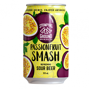 Stomping Ground Passionfruit Smash Sour Beer Cans 355ml - Pack of 24