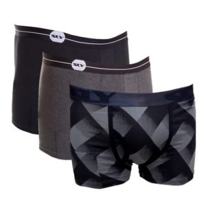 Black and Grey Cotton Trunks 3-Pack