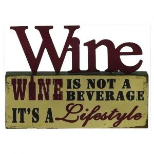 Wine_is not a Beverage Table Top Block