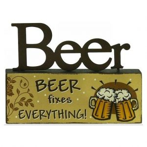 Beer Fixes Everything Table Top Block