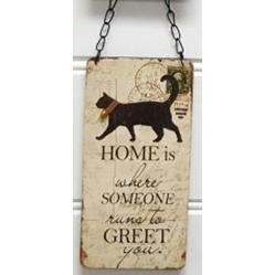 Cat Sign - Home where someone runs to greet you