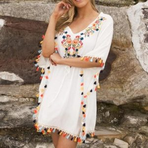 TEV1323 Embroidered Top