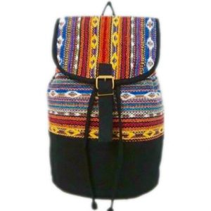Zianna Fabric Stitched Backpack Eagle Moon