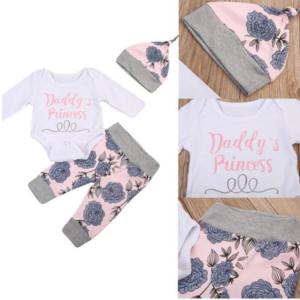 Daddy Princess 3 piece Outfit