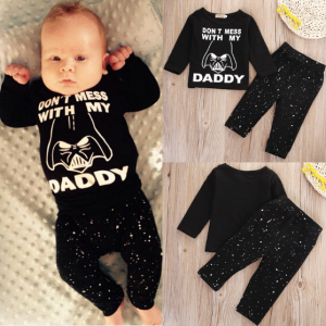 Baby Boy and Girl Star Wars  T-shirt & Long Pants Outfit 2 piece